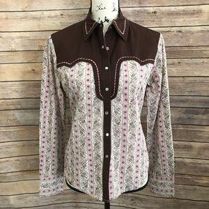 Levi's Women's floral western cowboy shirt top
